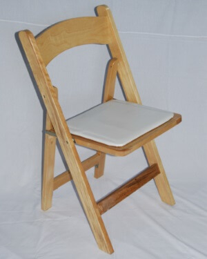 folding natural wood chair