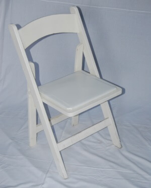 folding white wooden chair